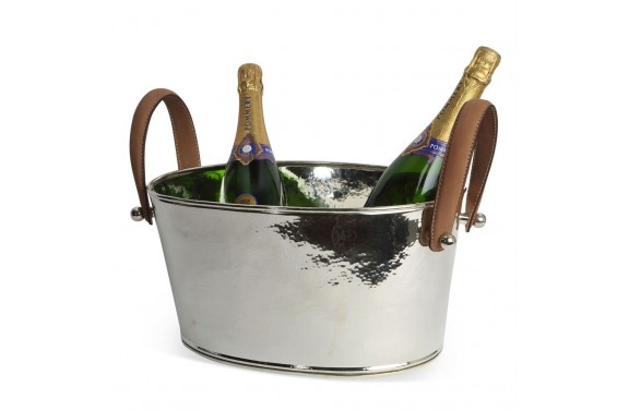 Leather Handled Champagne Bath Small