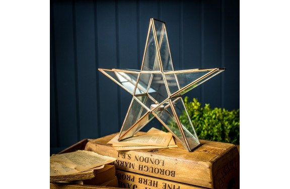 Medium Glass Star Candle Holder
