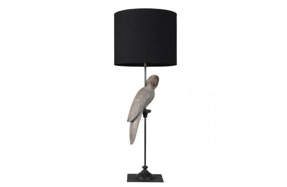 Greywash Parrot Table Lamp