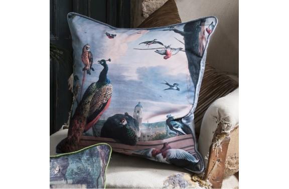 Peacock Printed Cushion