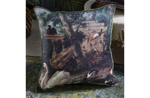 Swan Printed Cushion