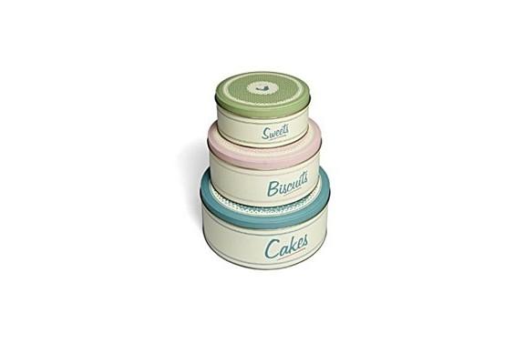 Set of 3 Vintage Style Cake Tins