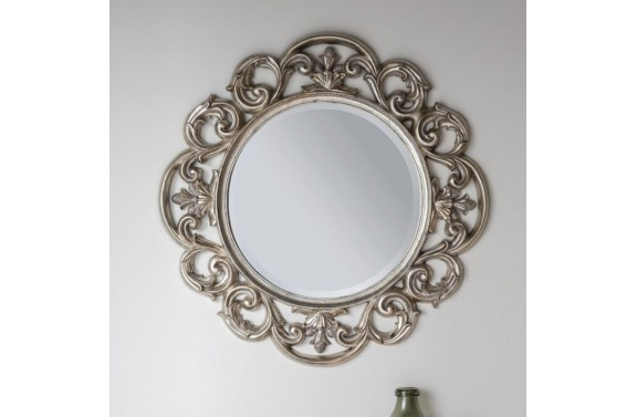Baroque Silver Mirror