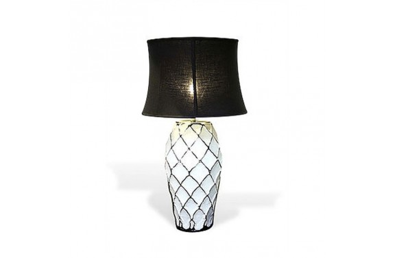 Abstract Trellis Lamp