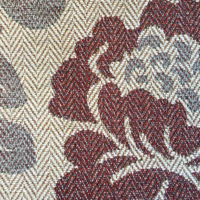 Heather/Berry Floral Chenille