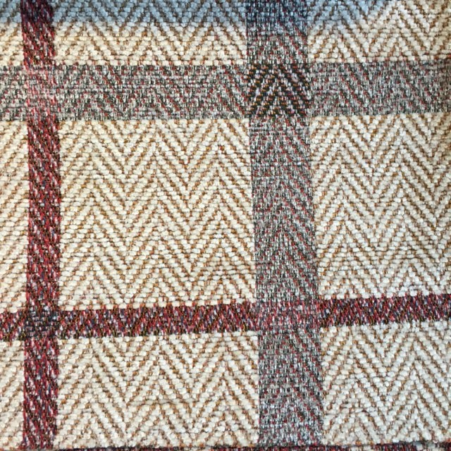 Heather/Berry Plaid Chenille