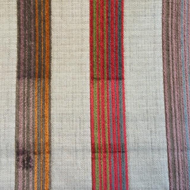 Red/Multi Velvet Stripe