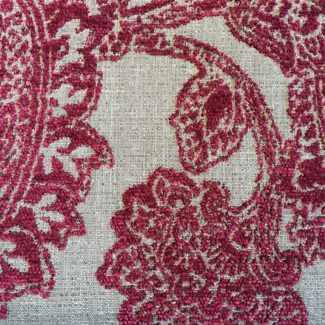 Ruby Floral Chenille