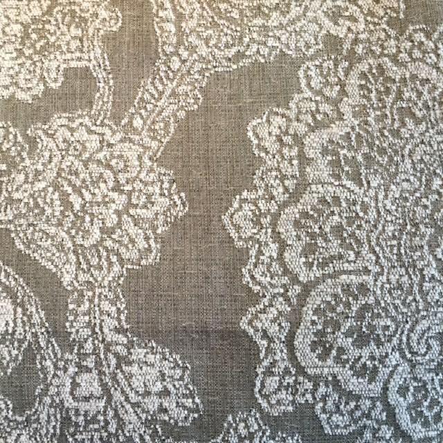Silver Floral Chenille