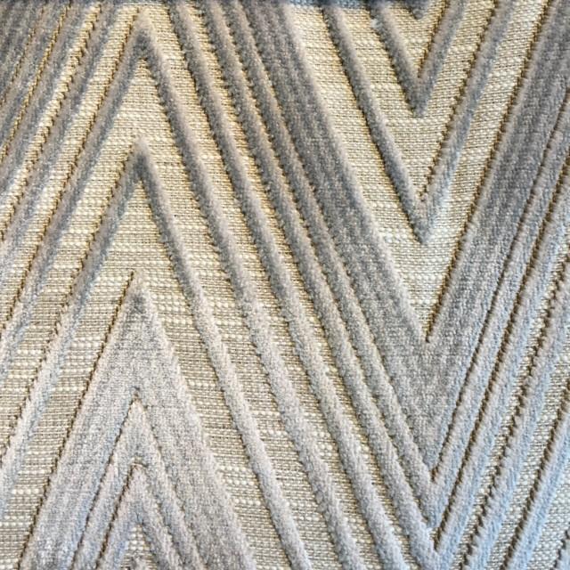 Verdigris Chevron Velvet