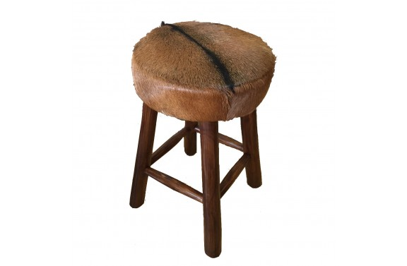 Goatskin Medium Bar Stool