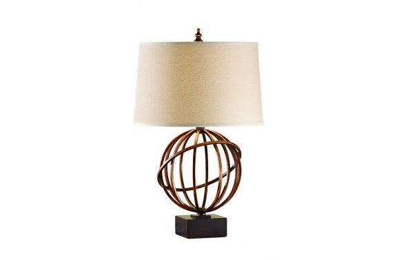 Cage Design Copper Table Lamp