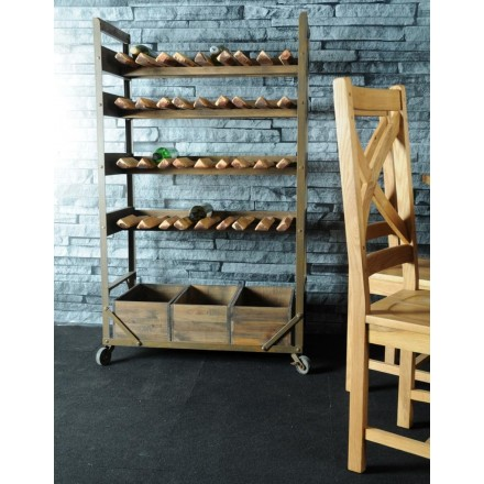 Re-engineered Wooden Wine Rack