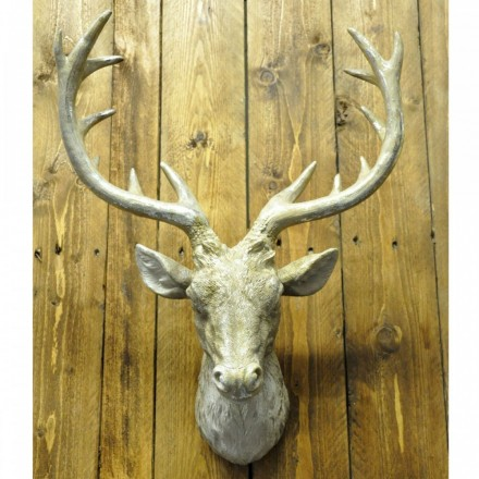 Gold/Glitter Resin Stag Head