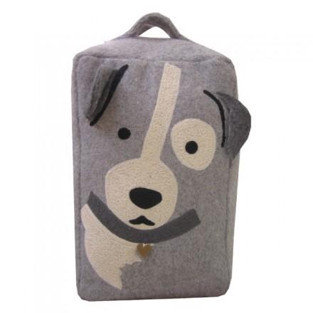 Grey Dog Doorstop