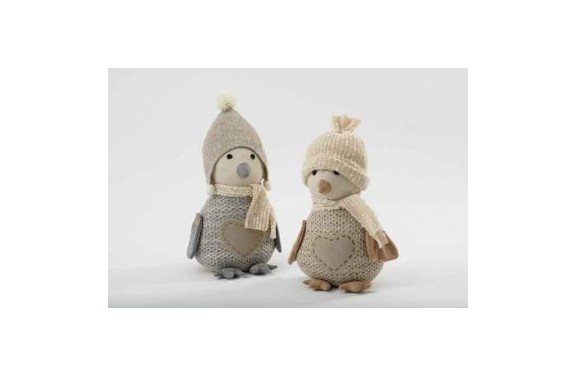 Grey Penguin Doorstop