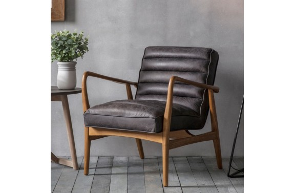 Leather Armchair Ebony