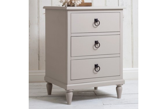 Salcombe Soft Grey 3 Drawer Chest