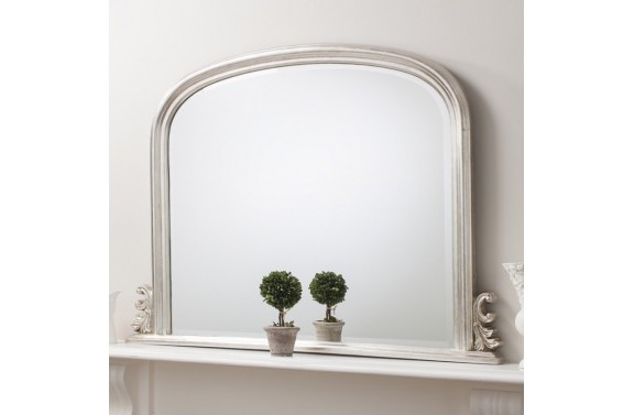 Silver Over Mantel Mirror