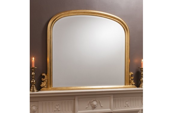 Gold Over Mantel Mirror