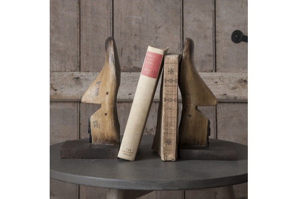 Wooden Last Bookends