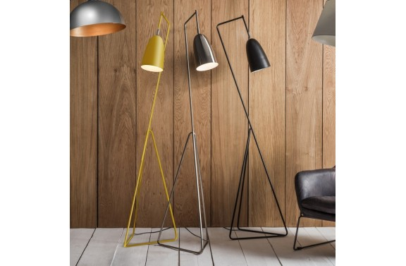 Angular Floor Lamp Yellow
