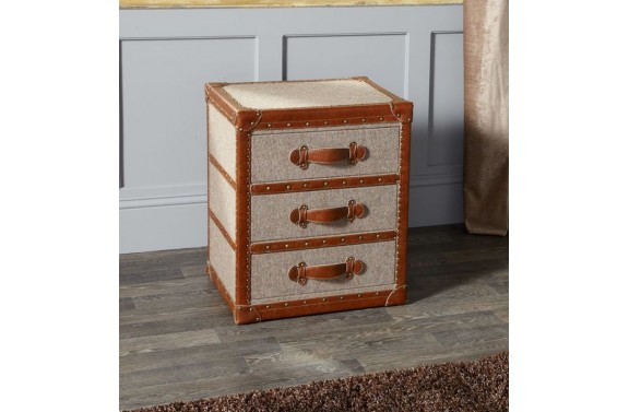 Harris Tweed Three Drawer Trunk