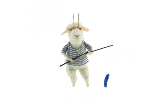Fishing Sheep Decoration