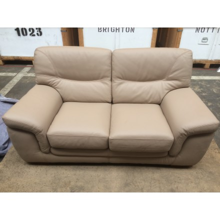 Ex-display faux leather 2 seater sofa