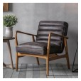 Mid-Century Style Leather Chair
