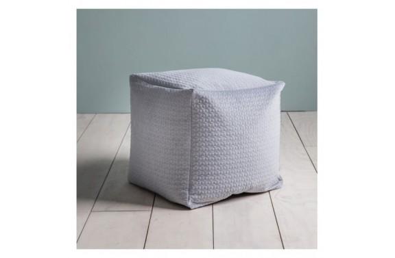 Silver Cube Bean Bag