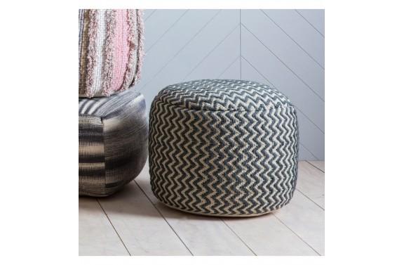 Grey Geometric Textured Drum