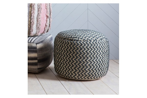 Grey Geometric Textured Drum