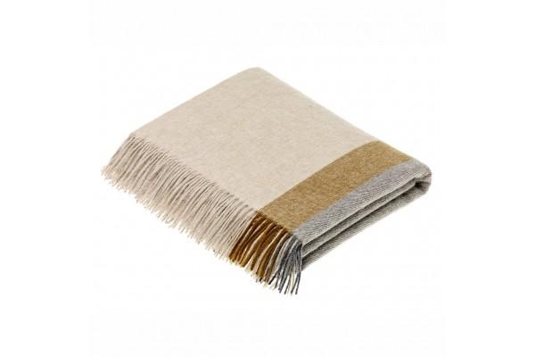 Harley Stripe Gold/Grey Wool Throw
