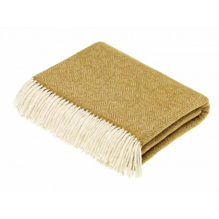 Parquet Gold Wool Throw