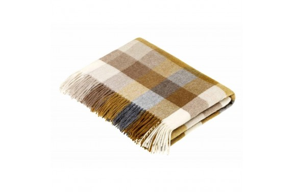 Harlequin Gold Wool Throw