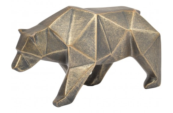 Bronze Abstract Bear