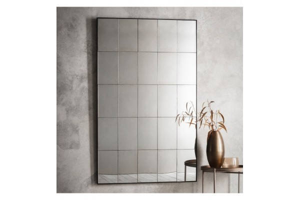 Antiqued Block Mirror