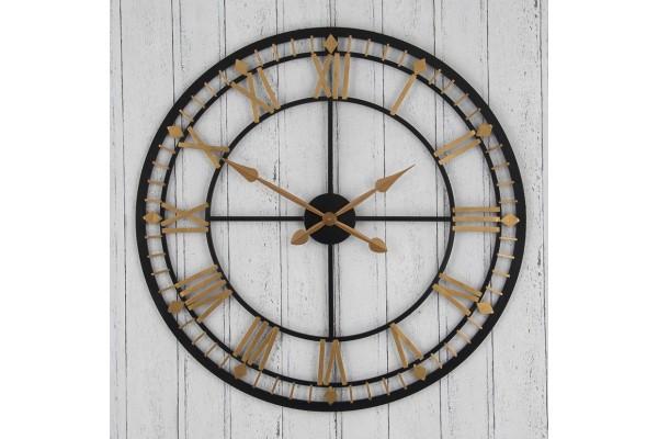 Antique Gold and Black Skeleton Clock