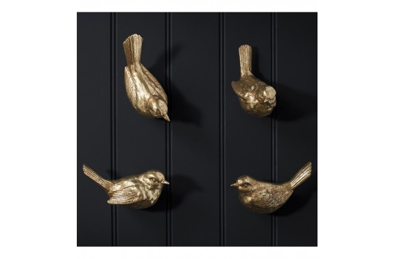 Golden Bird Wall Hooks
