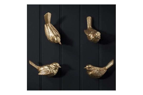 Golden Bird Wall Hooks