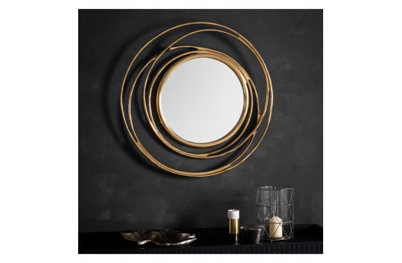 Satin Gold Whirlpool Mirror