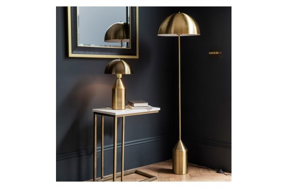 Art Deco Gold Floor Lamp