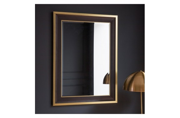 Golden Edged Rectangular Mirror