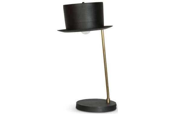 Black Top Hat Table Lamp