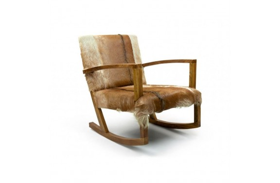 Goatskin Rocking Chair
