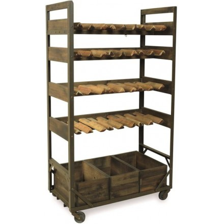 Re-engineered Wooden Wine Rack