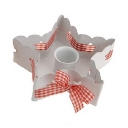White Star Shaped Candle Holder