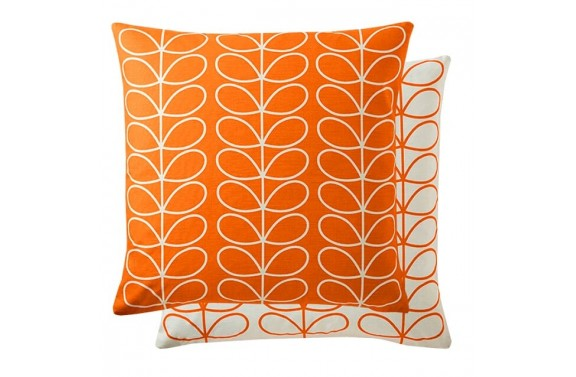 Orla Kiely Linear Stem Cushion - Persimmon