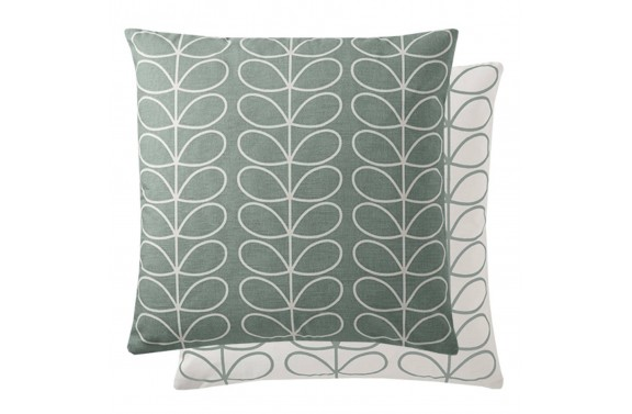 Orla Kiely Linear Stem Cushion - Duck Egg